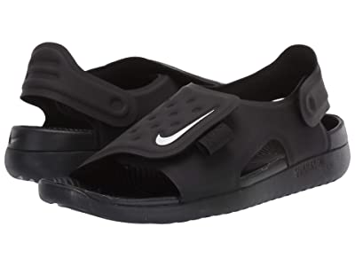 Nike Kids Sunray Adjust 5 (Little Kid/Big Kid) (Black/White) Boys Shoes