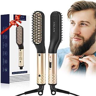 ANLAN Cepillo Alisador de Barba Plancha de Pelo Flequillo El