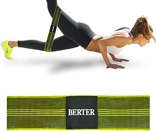 BERTER エクササイズバンド トレーニングチューブ ゴムバンド トーニング 高弾力 筋トレ 太もも 男女兼用 天然ラテックス製 収納袋付き
