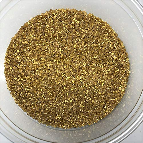 Sugar Crystals Gold Crystalz Bakery Topping Sprinkles 1 pound colored sugar