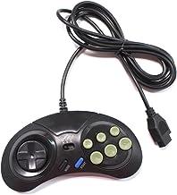 Manette de jeu pour console SEGA Megadrive avec 8 boutons et fonctions Turbo/Slow