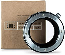 Gobe Lens Mount Adapter: Compatible with Nikon F Lens and Fujifilm X Camera Body