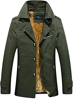 WanYangg Trench per Uomo, Signori Ragazzi Addensare Slim Fit Classico Cappotto Trench-Coat Giacca A Vento Soprabito più Ve...