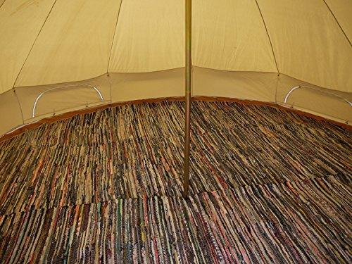 Bell Tent Half Moon Rag Rugs (6m Half Moon)