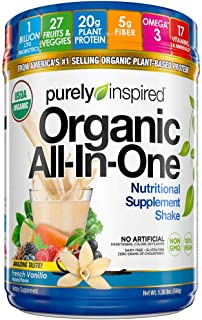 Meal Replacement Shake, Vegan Protein Powder, Purely Inspired Organic All In One, Plant Based Protein Powder for Women & M...