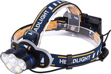 ヘッドライト KBook LEDヘッドランプ 超高輝度 T6LED COB搭載 18650電池対応 防水 8点灯モード USB充電式 角度調整可 サイクリング 夜釣り 防災用