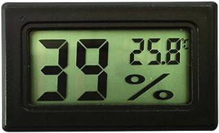 YouFia Mini LCD Digitales Thermometer//Hygrometer Temperatur Luftfeuchtigkeit Tester Hygrometer f/ür K/ühlschrank//Aquarium//Gew/ächshaus//Autos//Home//Office