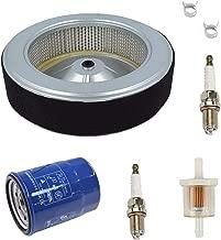Euros 17210-Z6L-010 Air Filter with 15400-PLM-A02 Oil Filter Spark Plug Fuel Filter Fit for Honda GX630 GX630R GX630RH GX660 GX660R GX660RH GX690 GX690R GX690RH Generator