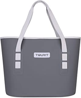 TOURIT Carryall Soft Cooler Leak-Proof All-Purpose Soft Sided Cooler Tote Bag for Fishing, Camping, Sports, Picnics, Sea Fishing,Road Beach Trip, Grey