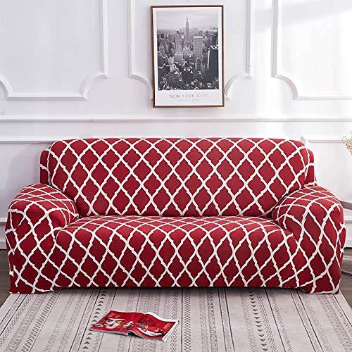 ASCV Funda de sofá geométrica elástica elástica Moderna Funda de sofá para Silla Fundas de sofá para Sala de Estar Protector de Muebles A4 3 plazas
