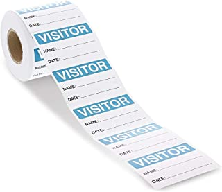 Visitor Sticker - 500-Count Name Label Sticker, Identification Sticker Roll for Vistor Pass at School, Daycare, Hospital, ...