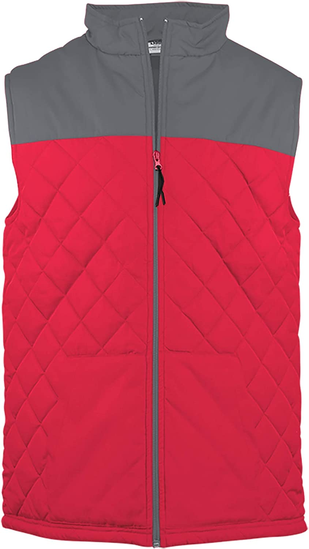Badger mens Quilted Colorblock Vest