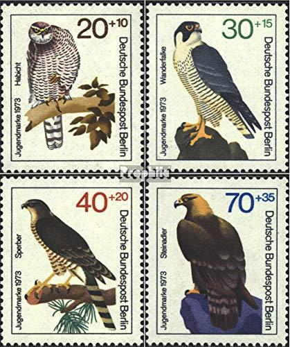 Berlijn (West) Mi.-Aantal.: 442-445 (compleet.Kwestie) 1973 Jeugd merken (Postzegels voor verzamelaars) vogels