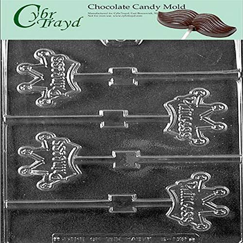 Cybrtrayd Life of the Party K139 Princess Crown Thrones Pops Chocolate Candy Mold in Sealed Protective Poly Bag Imprinted with Copyrighted Cybrtrayd Molding Instructions