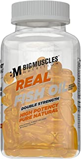 Bigmuscles Nutrition Real Fish Oil Double Strength Capsules- 60 Capsules