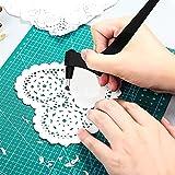 Craft Cutting Tools, utensili da taglio per taglio giroscopico, coltello artigianale di precisione in acciaio inossidabile con lama rotante a 360 gradi, utensile da taglio artistico per hobby (Nero)