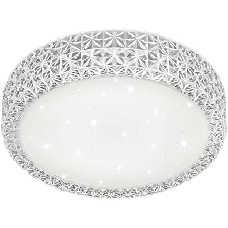 Reality Pegasus Plafoniera LED, Effetto Cielo Stellato, Diametro 27 cm / 12 W, Bianco