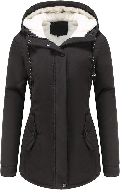HGWXX7 Womens Overcoat Fashion Drawstring Ja Parka Zip Hooded Max Store 65% OFF Up