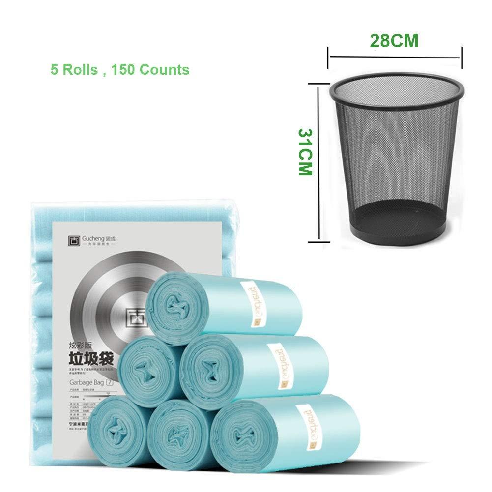 XDBY Bolsa De Basura Desechable - Bolsas Profesionales De Basura - Bolsas De Basura Biodegradables - Hogar, Oficina, Jardín (Color : Blue, Size : 50 Rolls): Amazon.es: Hogar