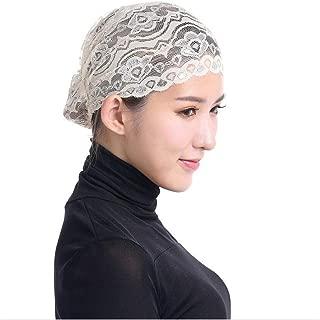 QingFan Women Muslim Hijab Ruffle Cancer Chemo Elegant Lace Hat Beanie Scarf Turban Head Wrap Cap