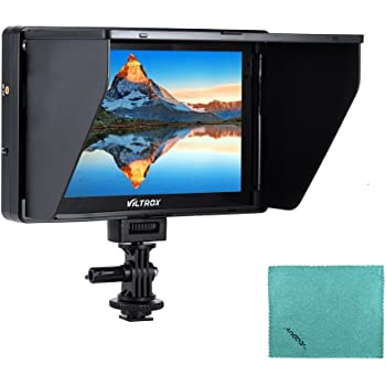 Viltrox DC-90HD Monitor HDMI Input Output AV Input Compatible with Canon Nikon Sony DSLR Camera Camcorder Video Studio Photography with Cleaning Cloth