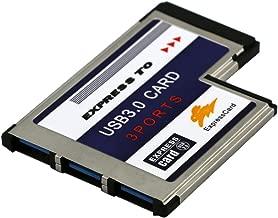 Baosity 3Port Flush Mount Express Card 54mm SuperSpeed USB3.0 Adapter Expansion Card