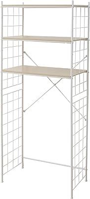 山善 ランドリーラック 幅70×奥行40×高さ170.5cm 棚板可動 側面ワイヤーネット 組立品 ナチュラル RLR-70(NA)