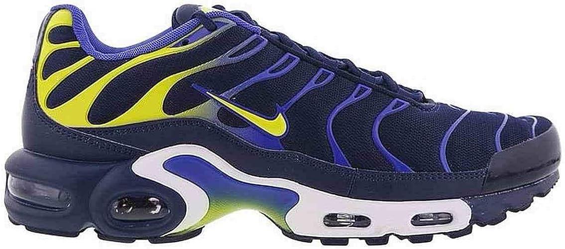 Nike Original Air Max Plus Tuned 1 TN Baskets Bleu/vert citron ...