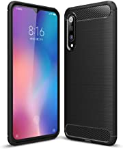 Xiaomi Mi 9 case, Carbon Fiber Design Flexible Soft TPU Case Highstrength Shockproof Protective Back Cover to Protect the Mobile Phone for Xiaomi Mi 9, Black