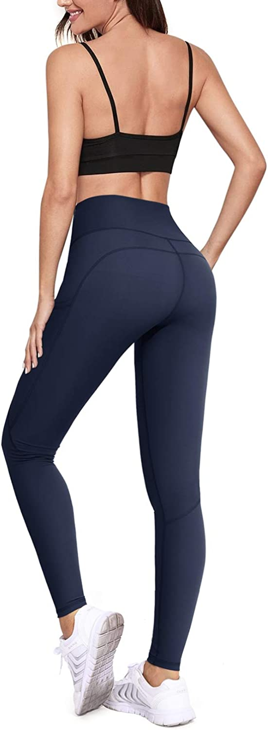 High Waist Yoga Pants with Pockets for Workout Running WALK FIELD Leggings for Women