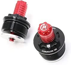 MCMOTOPARTS Red CNC Fork Preload Adjusters For Yamaha YZF R3 15-17 18 19 XVS 650 97-00 XVS 1100 00-11 XT600 90-00 XT400