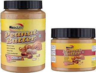 Musclife Peanut Butter Combo (Crunchy 1kg & Creamy 340gm)