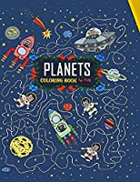 planets coloring book for kids: childrens books stars planets,planets coloring book for kids age 4-8