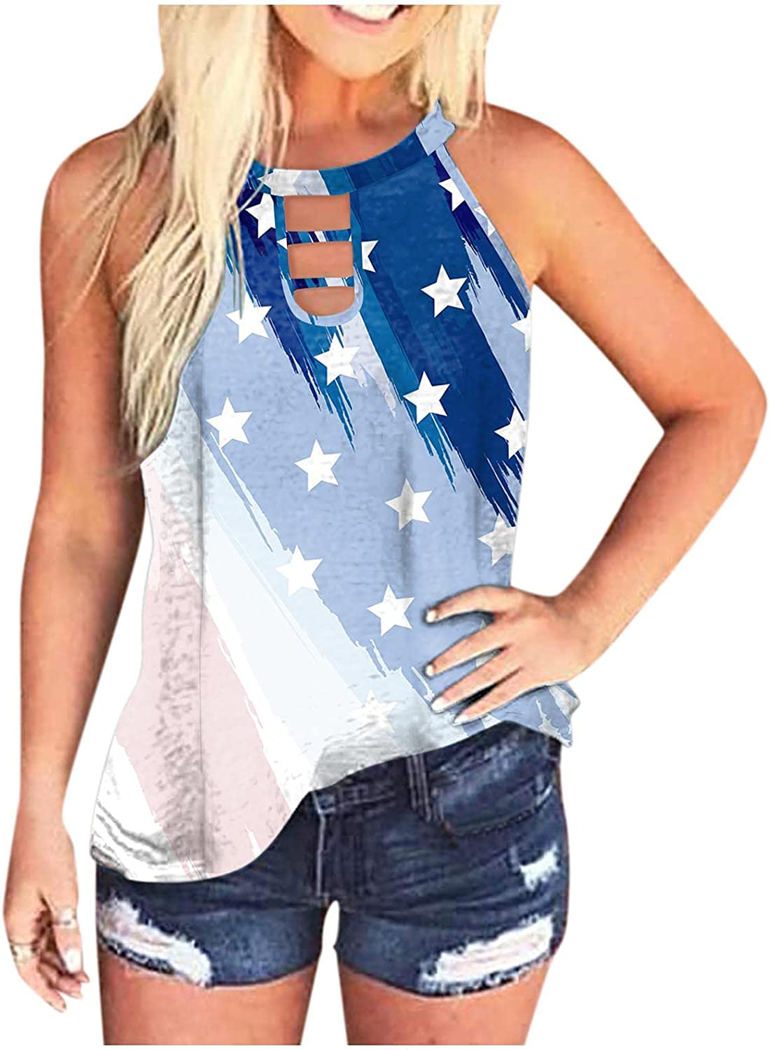 Gerichy Tank Tops for Women, Womens Summer Sleeveless Blouses Tops Casual Plus Size Loose Fit Tunic Tops Shirts Tees