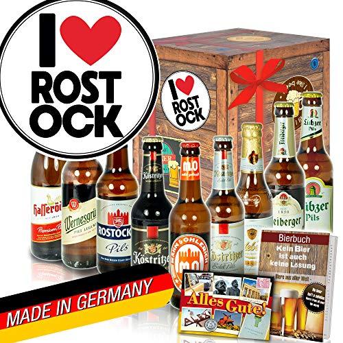 I love Rostock/DDR Bier Geschenk/Geschenkartikel Rostock