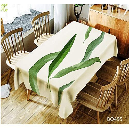 XXDD Mantel Estampado de Plantas Impermeable a Prueba de Aceite Rectangular Cubierta de Mesa Decorativa para Cocina Fiesta Navidad decoración del hogar A2 140x160cm