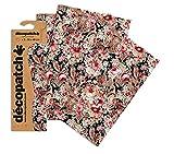 Decopatch Oriental - Papel Decorativo (395 x 298 mm, 3 Unidades), diseño Floral, Color Rosa,...
