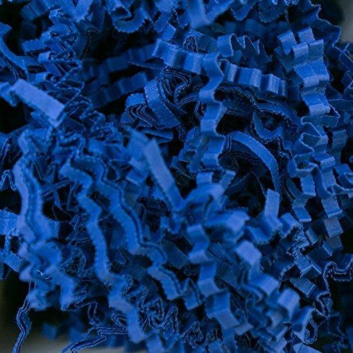 5 KG PresentFill®️ Füllmaterial Saphir Blau Polstermaterial aus 100% Recycling Papier für Pakete Geschenkkörbe Geschenke Deko Versand - Verpackungsmaterial zum Verpacken | Füllen | Polstern | Ausstopf