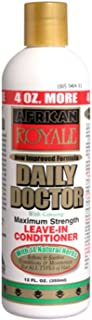 African Royale Daily Doctor Maximum Strength Leave-In Conditioner, 12 oz (Pack of 7)