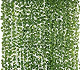 Fancy decoration: You can use this artificial greenery garland vine leaves for wall decoration; home decoration; for door god photos and to decorate both indoor and outdoor like balcony; garden; weddings; living room; kitchen; shopping mall; party; o...