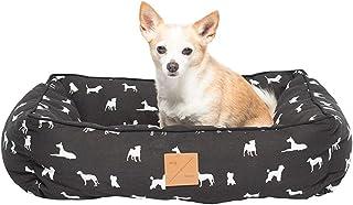 MOG & BONE Bolster Dog Bed Black Designer Dog Print Large