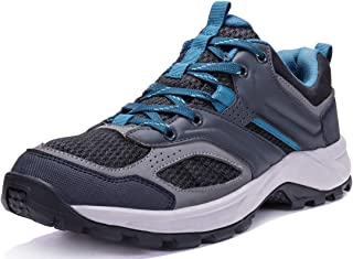 Hiking Shoes for Men/Women Tennis Trail Running Backpacking Walking Shoes Comfortable Slip Resistant Sneakers Lightweight Athletic Trekking Low Top Boot