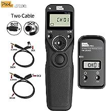 Pixel TW-283 DC0/DC2 LCD Wireless Shutter Release Timer Remote Control for Nikon Z6 Z7 D3100 D3200 D3300 D5000 D5100 D5200 D5300 D5500 D90 D800 Series D810 Series 1D SeriesD7000 D7100 D7200 D600 D610