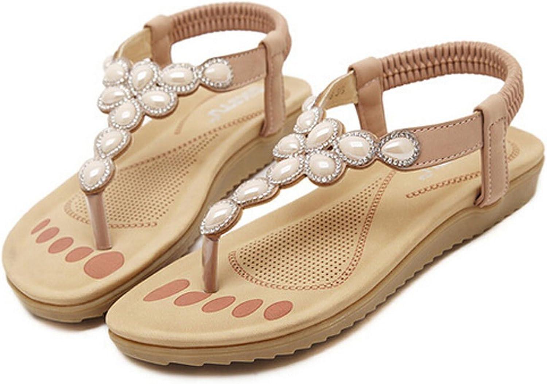 San hojas Flat Sandals Beach shoes Flip Flop Pink