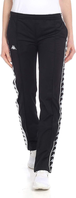 Kappa Women's 303GFY0A62 Black Polyester Joggers
