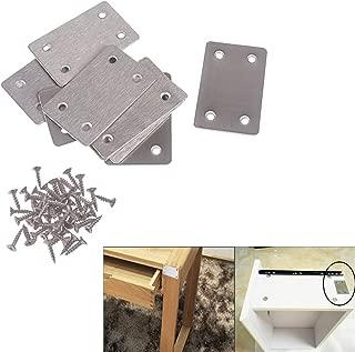 VintageBee20 PCS Flat Steel Straight Brace Bracket,1.5mm Thickness Metal Flat Straight Mending Plates Fixing Corner Brace (2.4 x 1.5 Inches)