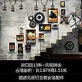 Cuadro industrial de escaleras de pared galería art cafe – style Film pintura de pared, Hu 13 Black y White Box + caja de cambios relojes