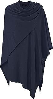 Zwillingsherz Poncho-Schal mit Kaschmir - Hochwertiges Cape für Damen - XXL Umhängetuch und Tunika mit Ärmel - Strick-Pullover - Sweatshirt - Stola für Sommer und Winter von Cashmere Dreams