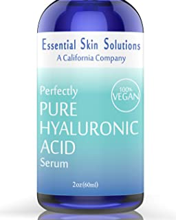 Essential Skin Solutions Hyaluronic Acid Serum Pure Hydration Vegan & Gluten Free Formula Therapeutic Hydrating Face Moist...