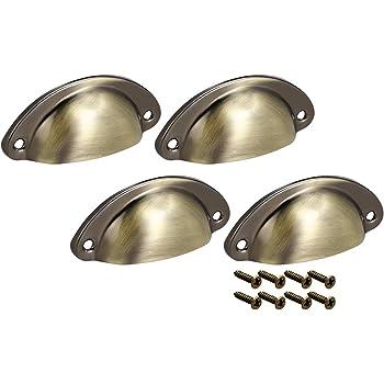 Sourcingmap 66 mm 20 unidades tono plateado Tirador de caj/ón para centro de agujeros